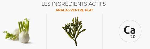 Ingrédients Actifs Anaca3 Ventre Plat